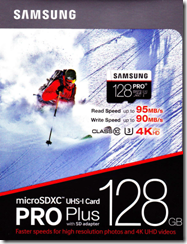128GB-Verpackung